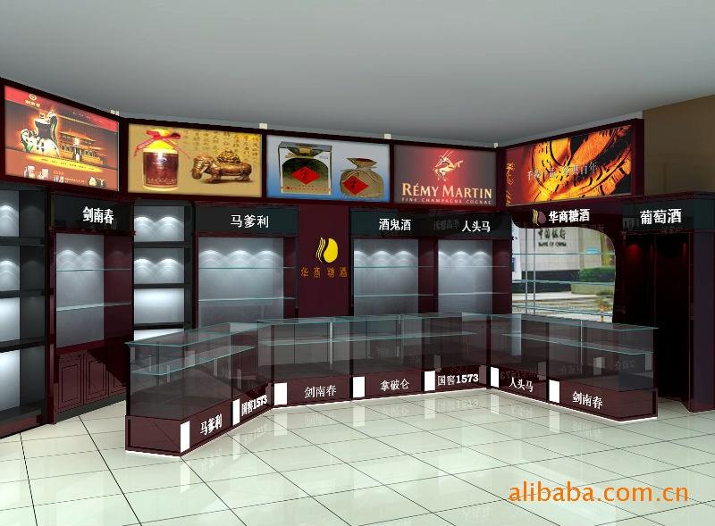 杭州展柜公司 杭州红酒展示柜厂 商场酒柜 名烟名酒展柜