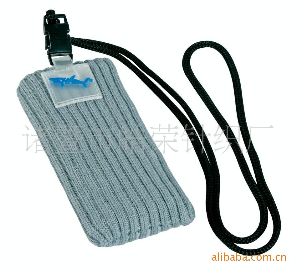 环保针织PVC手机袋 运动手机套 MP3套