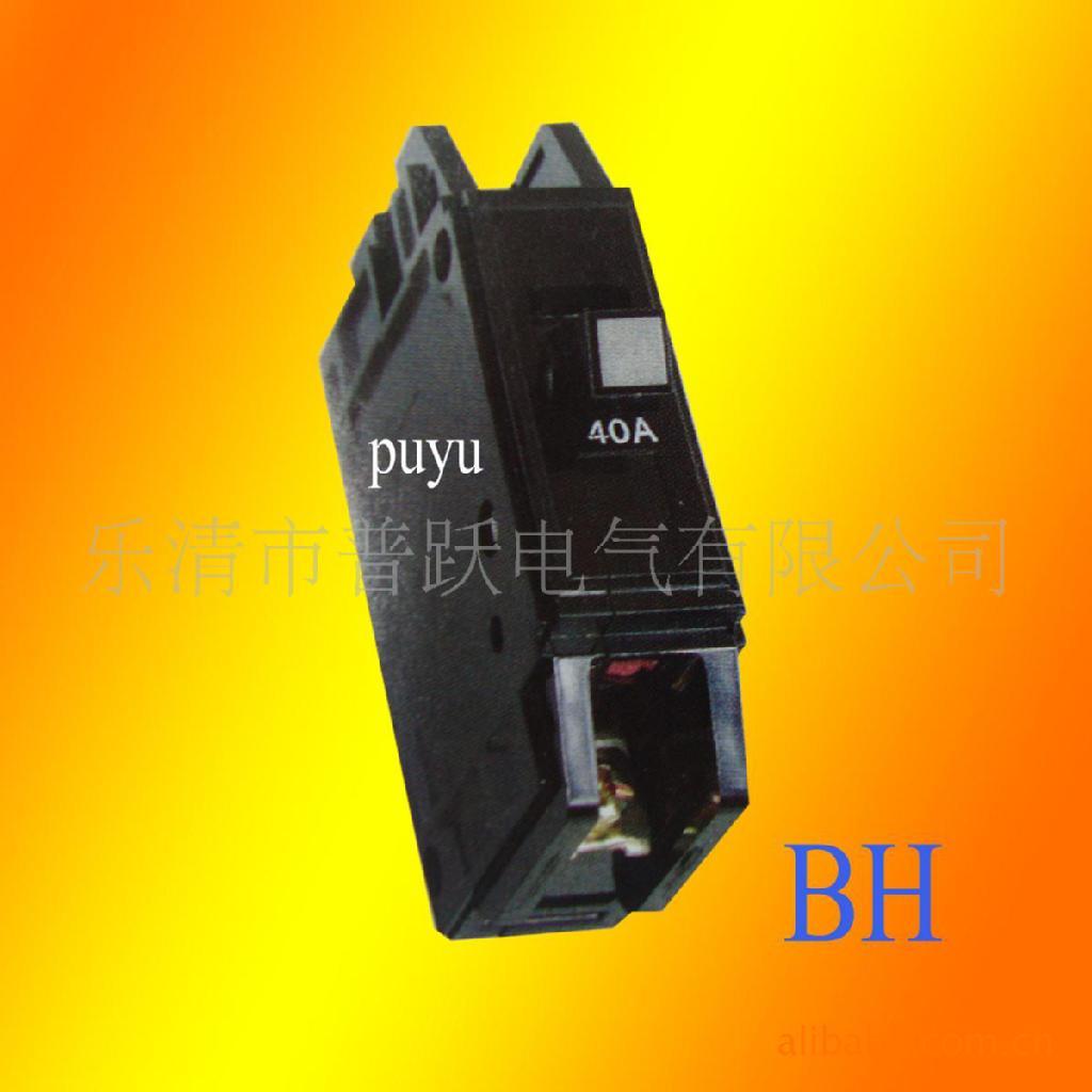 卖家热销 bh-p系列小型断路器 出口 黑色胶木断路器