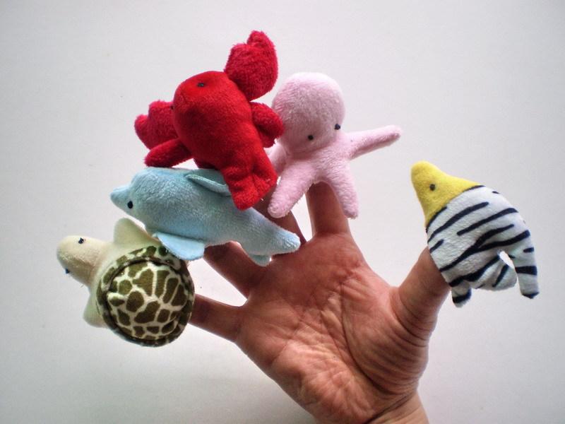 海洋指偶 10款海洋动物指偶 可爱卡通动物小指偶 益智早教用具