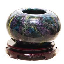 天然奇石收藏 臺灣七彩玉原石擺件 風水擺件 家居擺件  玉石花瓶