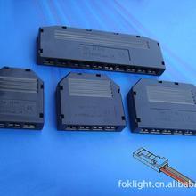 LED橱柜室内控制器 珠宝灯分线盒 低压4位 L806 4孔 多孔