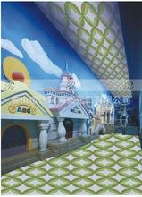 佛山拼图剪画厂家供应酒店 KTV电视背景墙拼图剪画各类花案的设计