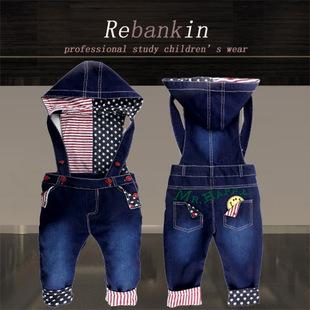 Baby Bib spring models Korean children boys denim overalls overalls wholesale infant overalls tide