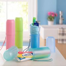 創意洗漱用品收納筒 便攜式情侶牙刷牙膏盒套旅行漱口杯牙杯套裝