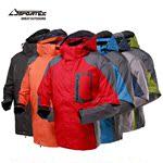 Sportex/博特 男款皮肤?#36335;?#39118;防雨透气冲锋衣两件套