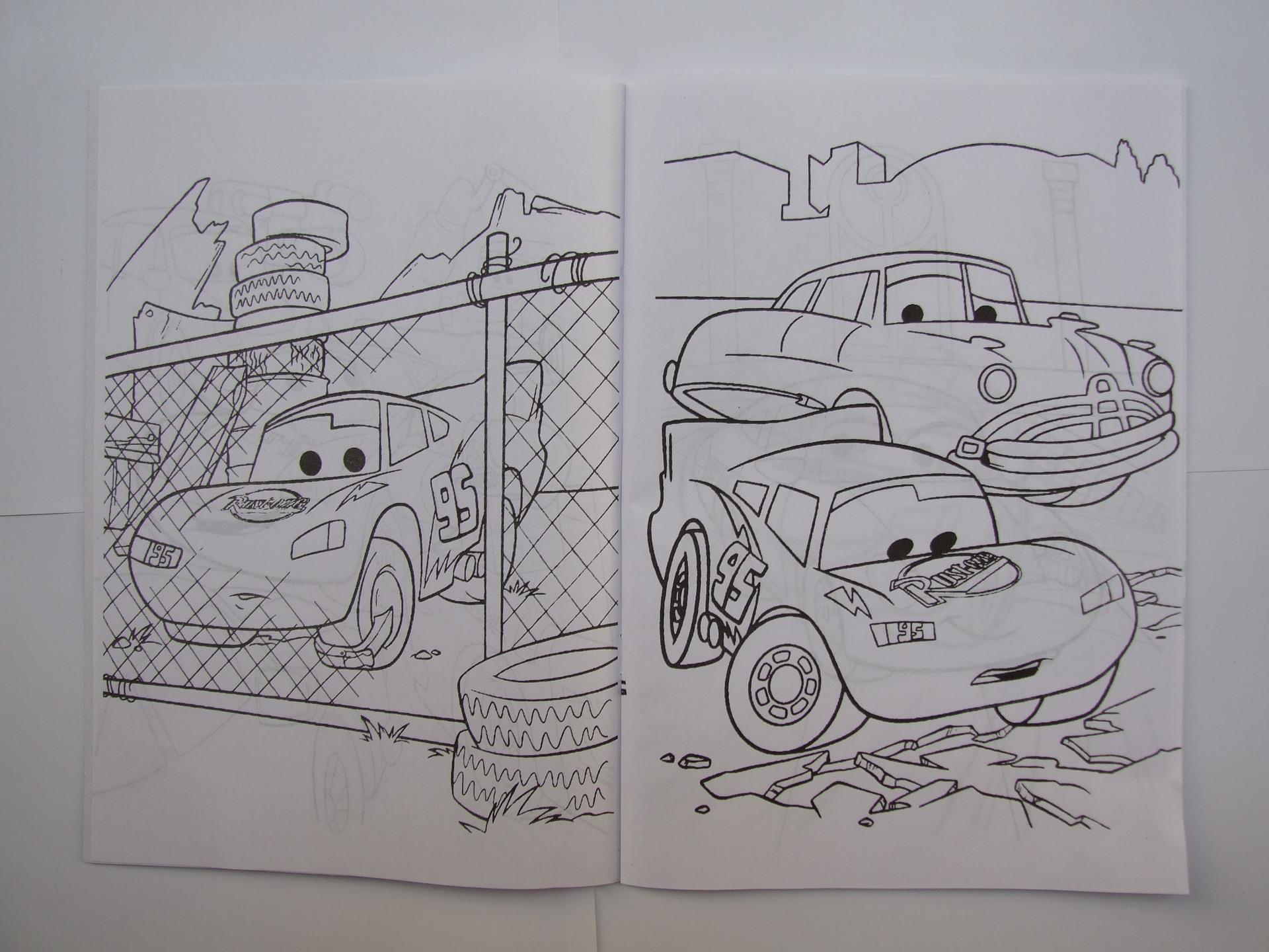 【儿童创意绘画】供应卡通汽车总动员填色本(绘画本)jfy014图片