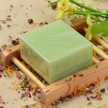 OEM加工 供应冷制皂 绿茶冷制皂 绿茶保湿补水手工洁面冷制皂100g