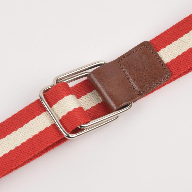 c010经典款帆布编织布带裤带腰带批发工厂直销质量好加厚图片