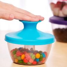 纳川厂家直销多功能塑料透明收纳罐 批发防潮带盖奇趣糖果密封罐