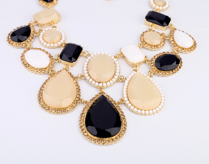 Occident alloy Inlaid precious stones necklace ( color ) NHQD2377