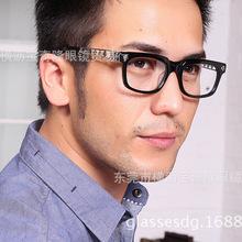 批发新款克锣心眼镜 男女近视眼镜架 板材眼镜框 镂空设计