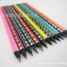 专业生产黑木彩色镶钻铅笔 黑木彩色铅笔