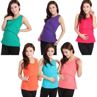 Wholesale Elastic oversized maternity clothes Buru Yi feeding nursing underwear pregnant women breastfeeding vest summer