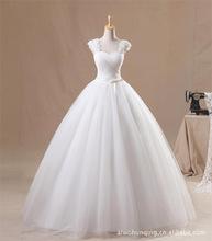 婚紗禮服2019新款韓版雙肩抹胸齊地綁帶甜美公主蓬蓬裙結婚婚紗