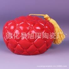 旭阳 创意红瓷茶叶罐 沙发效果茶叶罐 创意储物密封罐 厂家