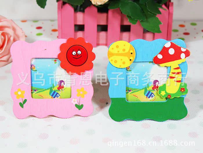韩国卡通木质儿童小相框 幼儿园影楼礼品相架批发礼物可摆可挂