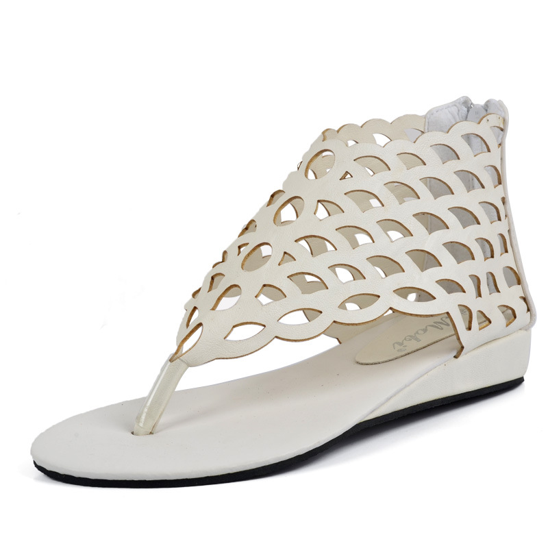 National wind single shoes sexy scales flat flat sandals women's shoes's main photo