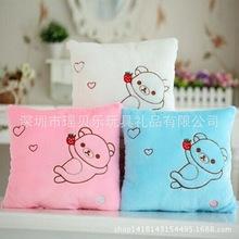 毛绒玩具厂家***来图设计加工 个性抱枕 创意抱枕被 爱心
