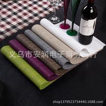 55环保精品加厚PVC餐垫 日式欧式隔热垫餐桌垫盘垫碗垫水洗易干