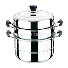 【厂家直供】优质礼品赠品锅不锈钢蒸锅加厚28汤蒸两用锅层蒸锅