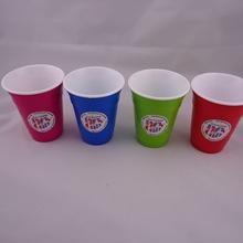 PS双色杯 塑料双层杯 星巴克咖啡杯双层保温杯