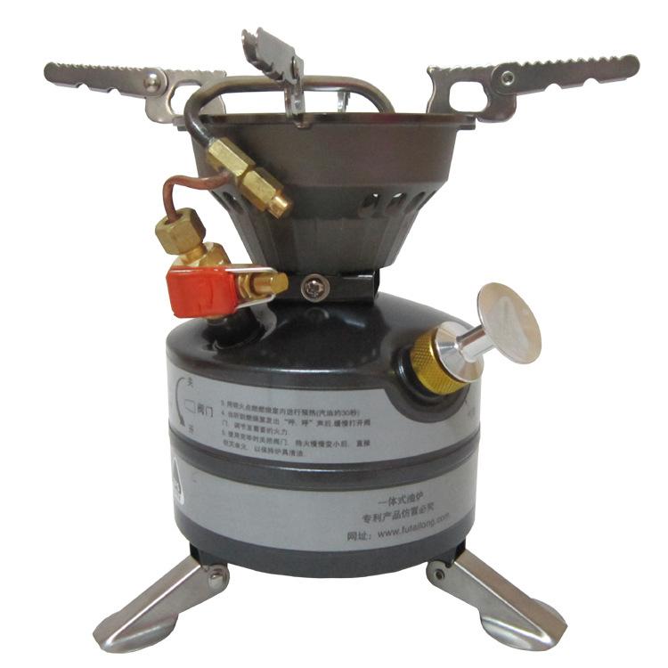 正品兄弟BRS-12A一体式野战油炉 野营防风汽油炉户外炉头野餐炉具