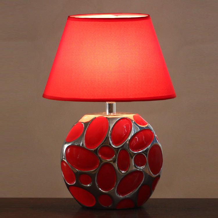 欧式陶瓷电镀工艺酒店别墅客厅摆设台灯