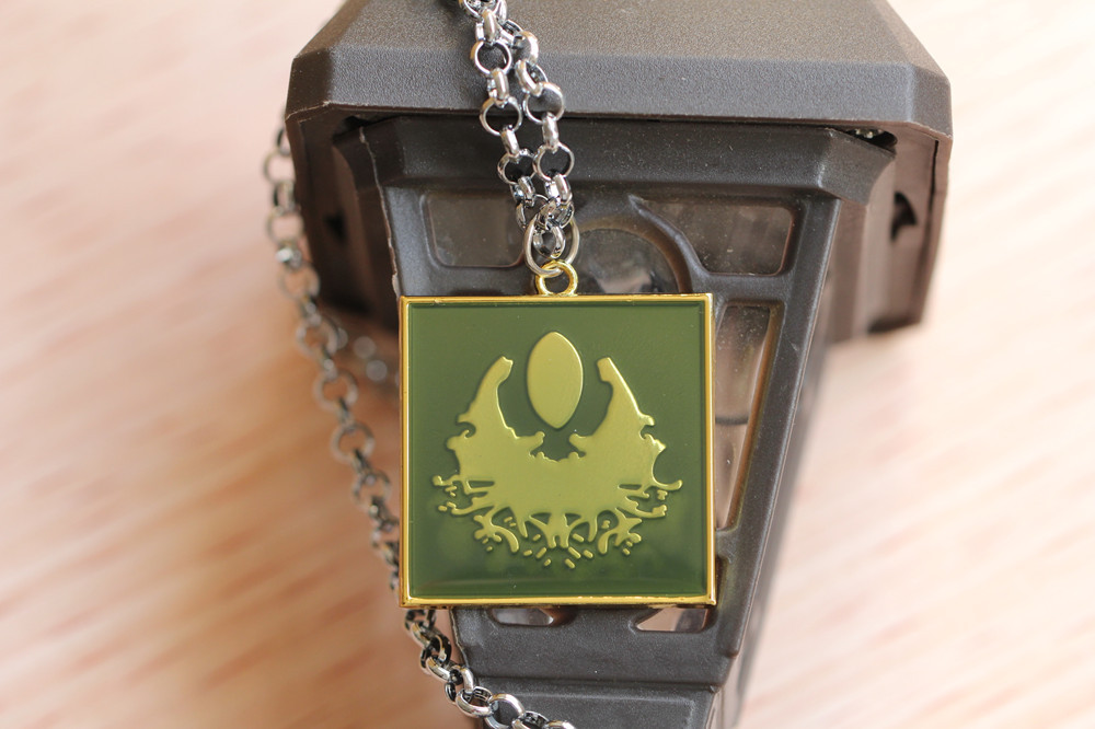 Dota2 Camp totem logo keychain zinc alloy keyring radiant nightmare Dire  The scourge guards key holder choker necklace pendant - us627 18e7aa9ead