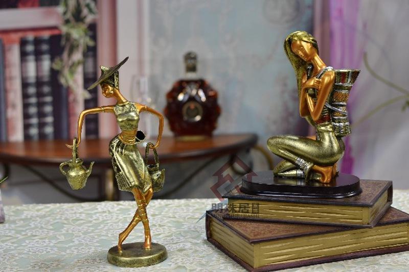 树脂工艺品_欧式家居饰品傣族人物摆件树脂工艺品