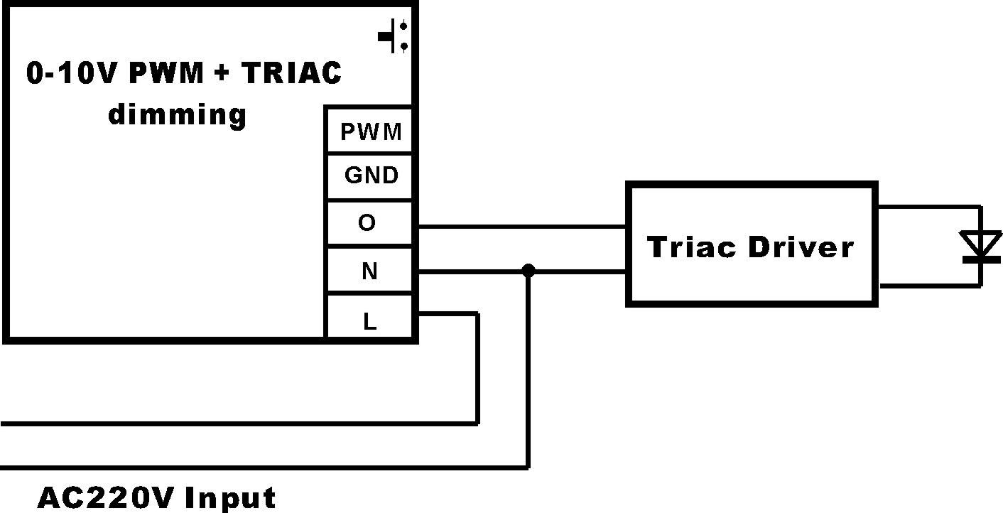 1.  匹配可控硅调光电源接线图