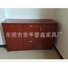 办公文件柜矮柜 板式资料柜 木质文件柜带抽屉 双开门简约