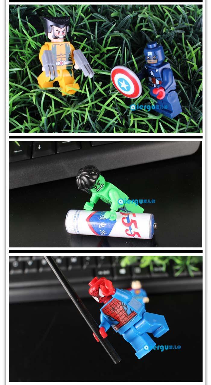 乐高超级英雄摩人仔拼装积木玩具 美国队长黑豹蝙蝠侠