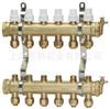 锻压连体分水器 智能分集水器 黄铜分水器 地暖分水器(1寸2)