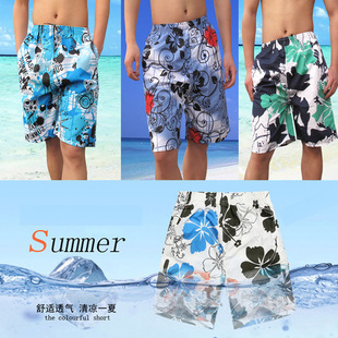 Factory direct large size quick-drying summer peach Men's beach pants fifth of men's shorts wholesale trade