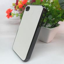 批发苹果4/5S透明边黑边彩边手机套刮白底喷涂层直接打印壳