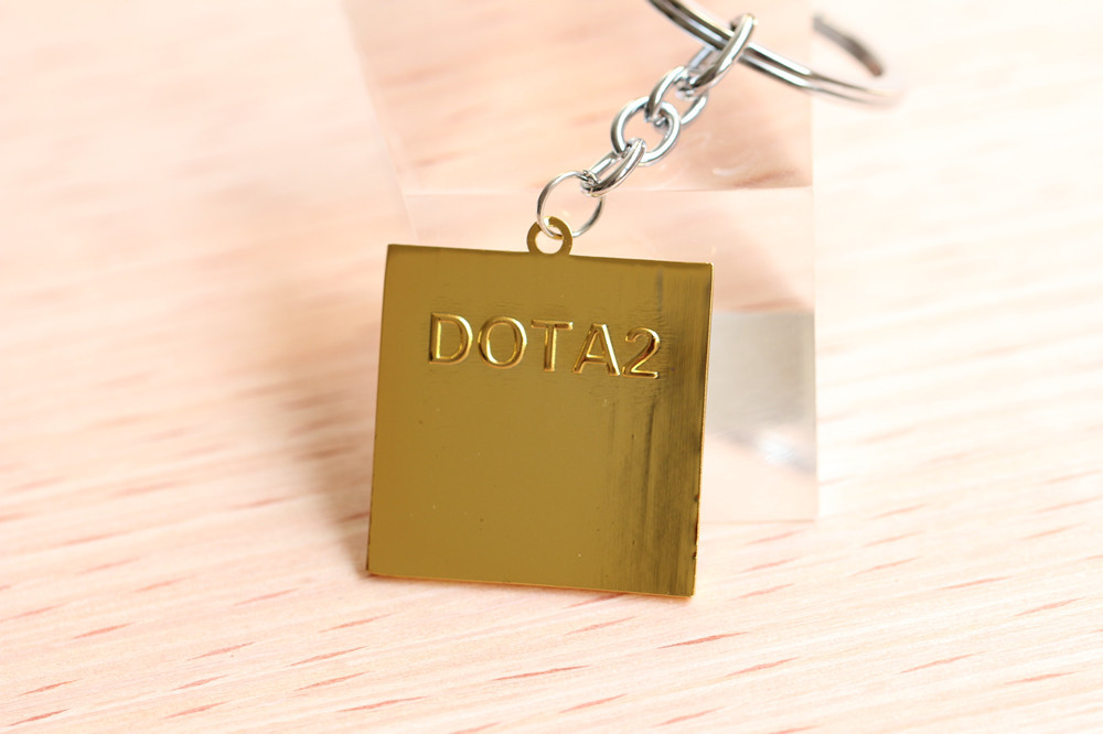 Dota2 Camp totem logo keychain zinc alloy keyring radiant nightmare Dire  The scourge guards key holder choker necklace pendant - us627 f2e6754a3c