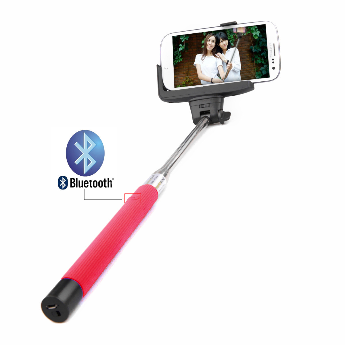 extendable handheld bluetooth selfie stick shutter monopod for samsung iphone lg ebay. Black Bedroom Furniture Sets. Home Design Ideas