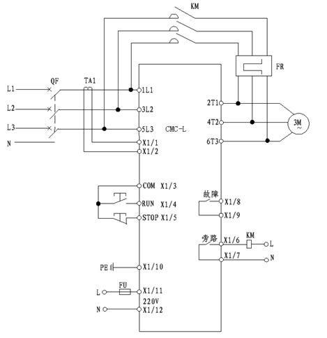 cmc-l系列数码型软启动器的基本接线原理图