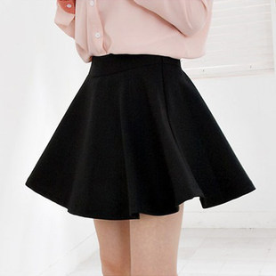 2015 spring and summer new bottoming Korean big swing sun dress pleated skirt women's half-length skirt