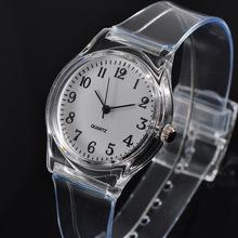 手表批发手表女士石英表 塑胶透明PVC手表小清新手表 女款