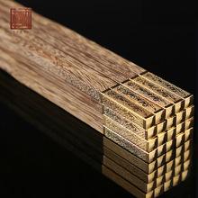 金龙凤木质筷子定制礼品筷子套装高档实木筷子鸡翅木中式筷子批发
