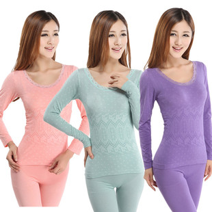 Factory explosion models do not fade modal basis Qiuyiqiuku Ms. seamless body thermal underwear sets wholesale