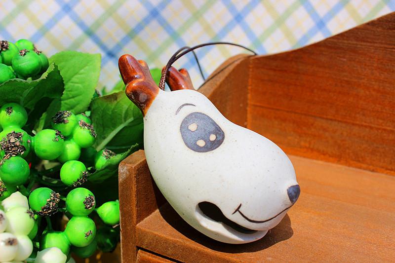 创意新品diy手工手绘陶瓷可爱小麋鹿风铃挂件挂饰家居装饰批发