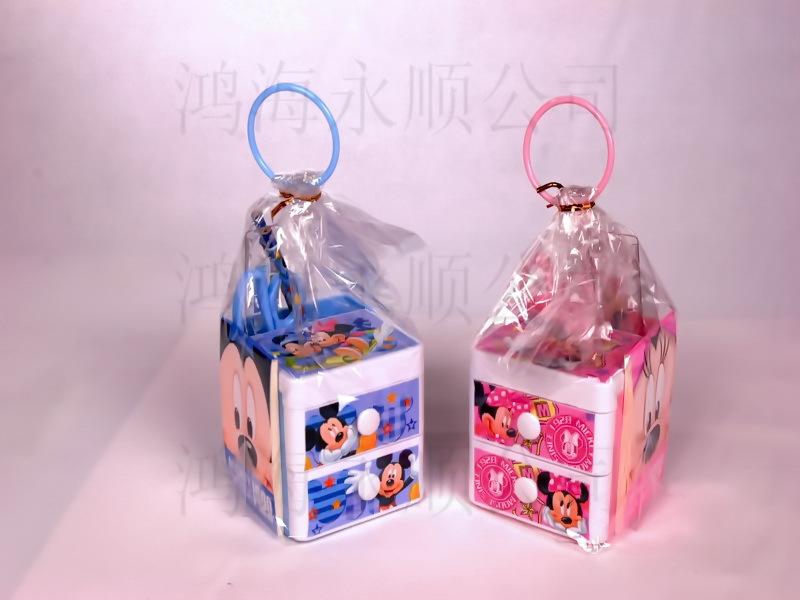 迪士尼带抽屉笔筒组 笔筒套装 学生笔筒 礼品奖品 文具组合