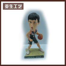 廠家*** 樹脂搖頭公仔玩具樹脂籃球運動員工藝品擺件 加工定制