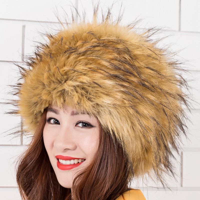 2018新款女士冬季帽子 欧美 优质仿皮草帽子狐狸毛保暖时尚帽子
