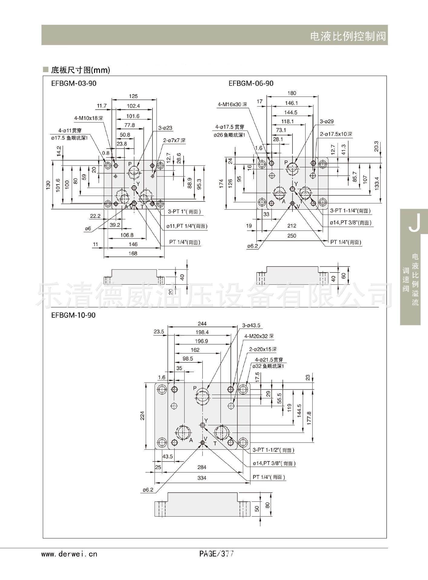 液压阀 efbg-03,06,10 系列电液比例溢流调速阀批发图片