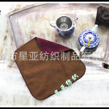 茶巾 CD-22 外贸原单 30公分全棉色织绣花茶巾/洗碗巾/抹布