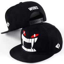 H094韩版潮牙齿嘻哈hiphop街舞滑板帽男 女士户外棒球帽 帽子批发